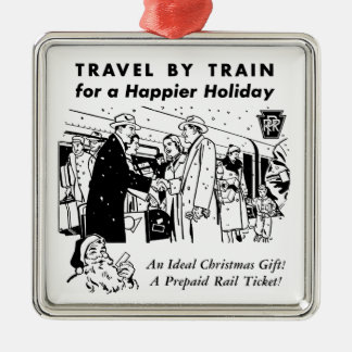 Travel By Train-Pennsylvania Railroad Metal Ornament