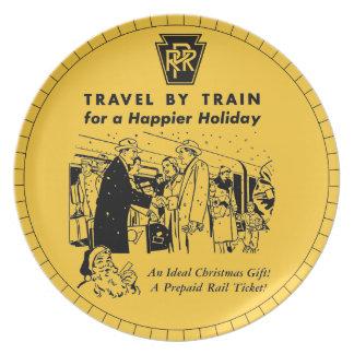 Travel By Train-Pennsylvania Railroad Plate