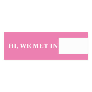 Travel calling cards pink white Double-Sided mini business cards (Pack of 20)
