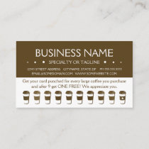 travel coffee cup loyalty punch card