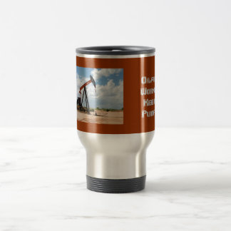 Travel coffee mug - Pump jack