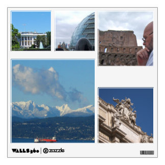 Travel Collection of 5 Wall Decals