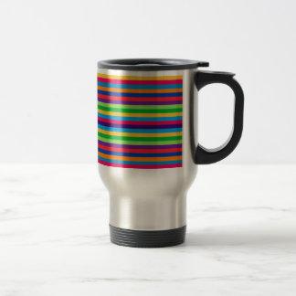 Travel Commuter Mug with Fun Stripes