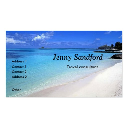 Travel agent business card templates page7 bizcardstudio travel consultant beach business card template colourmoves Image collections