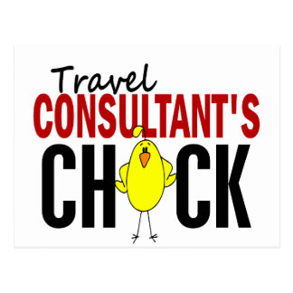 Travel Consultant's Chick Postcard