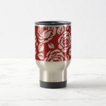 Travel_Cup_Retro-Red_Floral(c)__Unisex Travel Mug