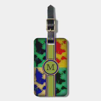 travel  custom initial luggage tag