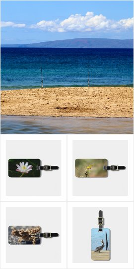 Travel gifts - luggage tags with animal photos
