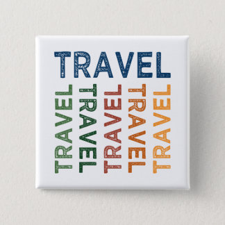 Travel Cute Colorful Button