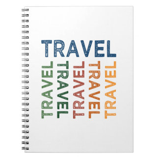 Travel Cute Colorful Notebook