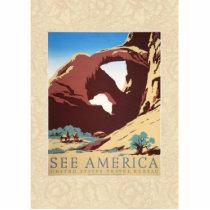 Travel Desert Rock Canyon Arch America art poster Statuette