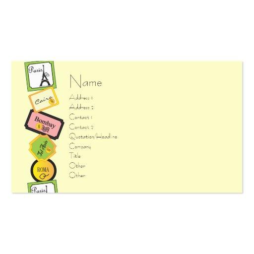 Travel Design Business Card Template