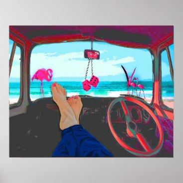 Art Themed Travel Destination Australia Original Digital Art Poster