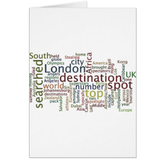 Travel destination card