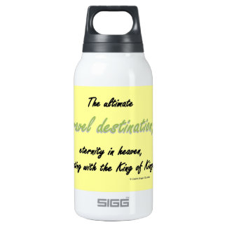 travel destination insulated water bottle