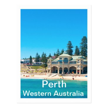Travel Destination Perth Australia Postcard