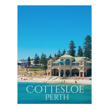 Travel Destination Perth Australia Poster
