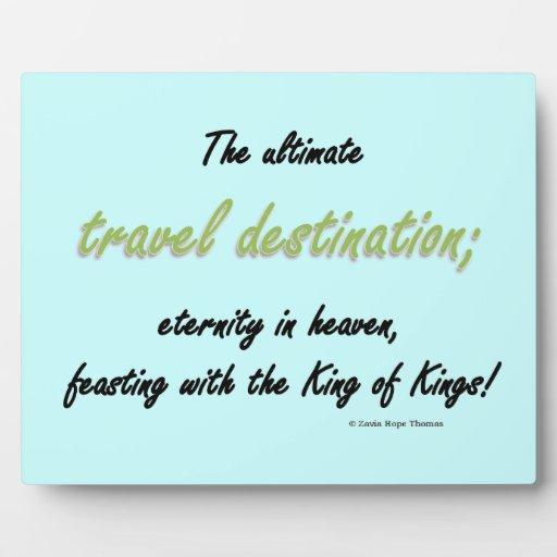 travel destination plaques