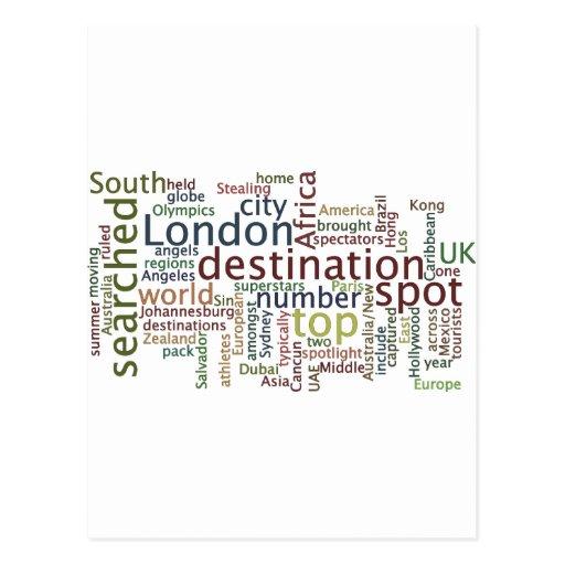 Travel destination post cards