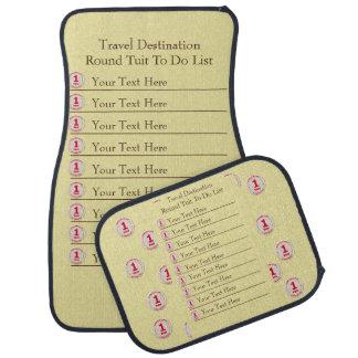 Travel Destination Round Tuit To Do List Car Mat