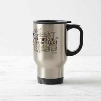 Travel destination travel mug