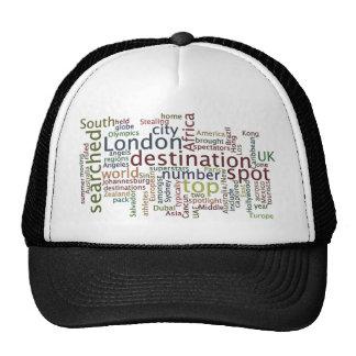 Travel destination trucker hat
