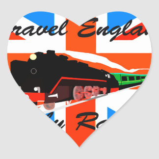 Travel England By Rail Heart Sticker