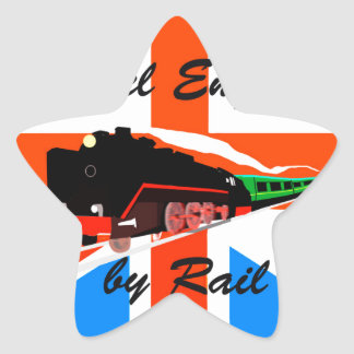 Travel England By Rail Star Sticker