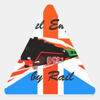 Travel England By Rail Triangle Sticker