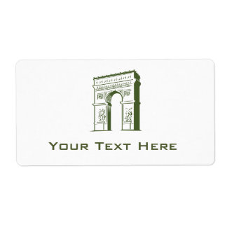 Travel Europe Arch Label