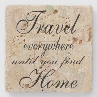 Travel Everywhere stone tile Stone Beverage Coaster