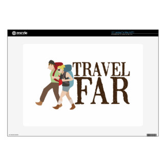 """Travel Far Decal For 15"""" Laptop"""