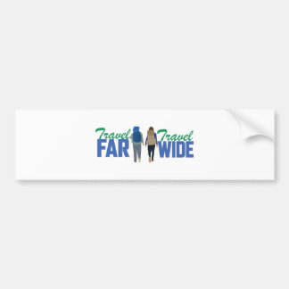 Travel Far & Wide Bumper Sticker