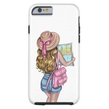 Travel Girl Tough iPhone 6 Case