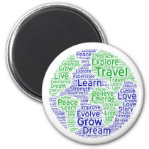 Travel globe magnet