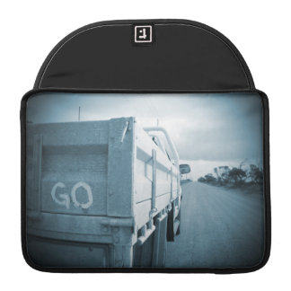 Travel go blue landscape dirt road sky ute sleeve for MacBook pro