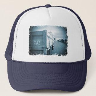 Travel go blue landscape dirt road sky ute trucker hat