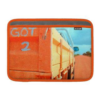 Travel got 2 travel blue rustic sky road ute MacBook sleeve