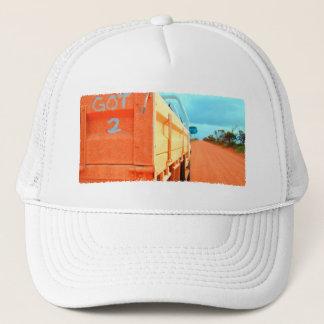 Travel got 2 travel blue rustic sky road ute trucker hat