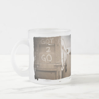 Travel got to go landscape dirt road sky frosted glass coffee mug