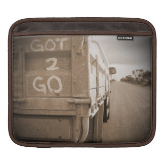 Travel got to go landscape dirt road sky iPad sleeves