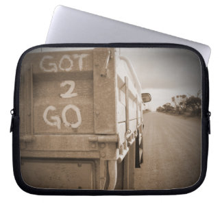 Travel got to go landscape dirt road sky laptop sleeves