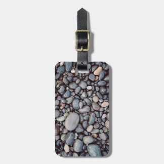 Travel Gray Rock Pebbles Bag Tag
