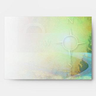 Travel Green Vibrant Envelope