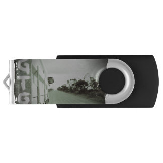 Travel GTG green and black landscape dirt road sky Flash Drive