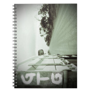 Travel GTG green and black landscape dirt road sky Notebook