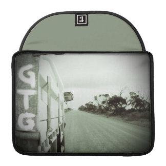 Travel GTG green and black landscape dirt road sky Sleeves For MacBooks