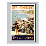 Travel Hong Kong Riviera Of The Orient Postcard