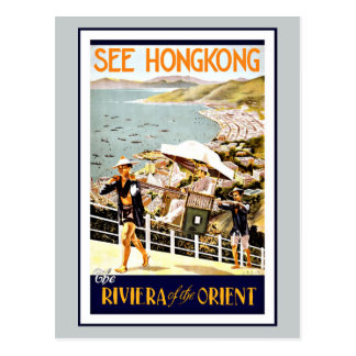 Travel Hong Kong Riviera Of The Orient Postcard