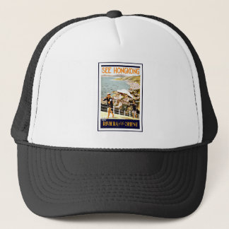 Travel Hong Kong Riviera Of The Orient Trucker Hat